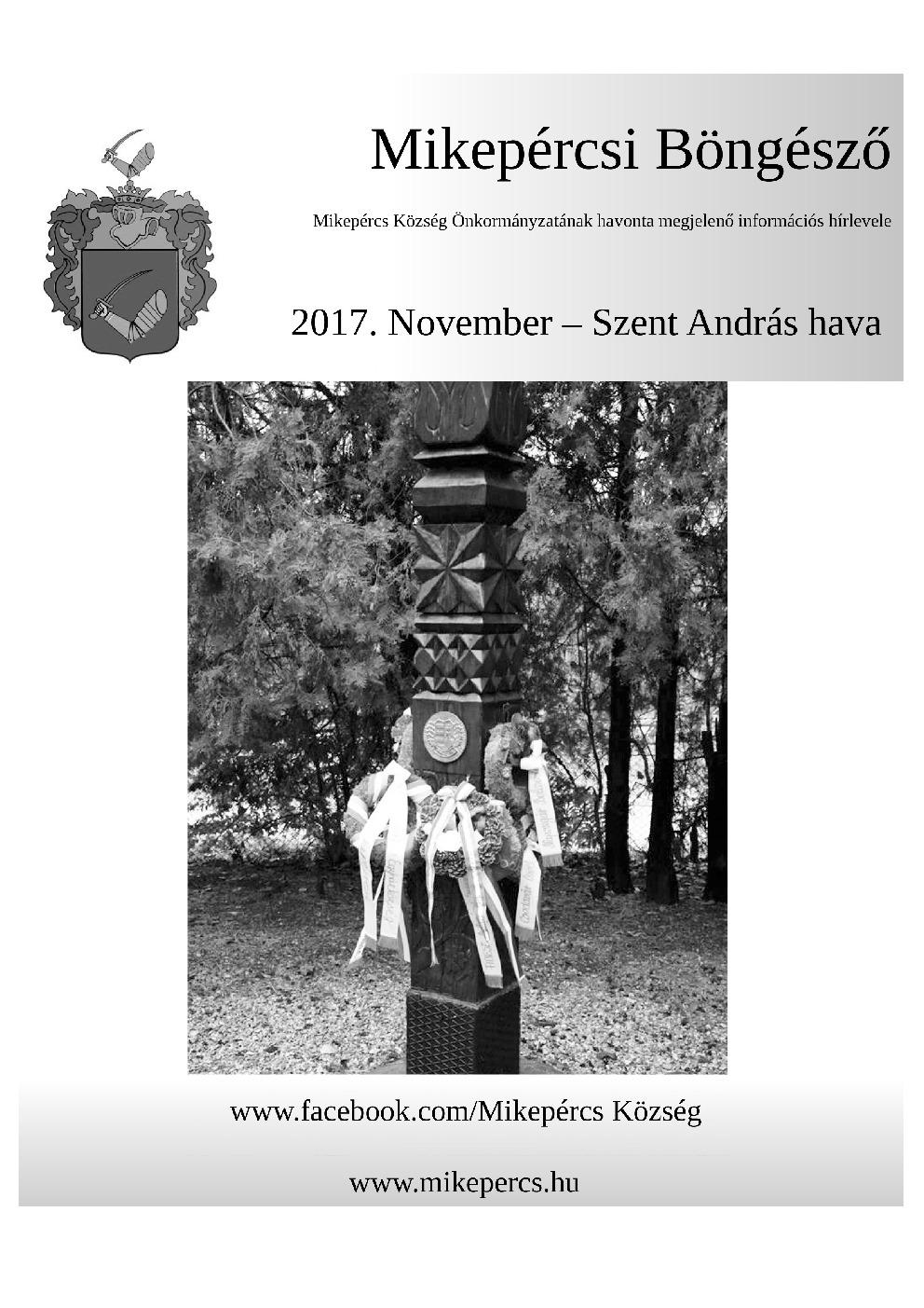 Mikepércsi Böngésző 2017. November