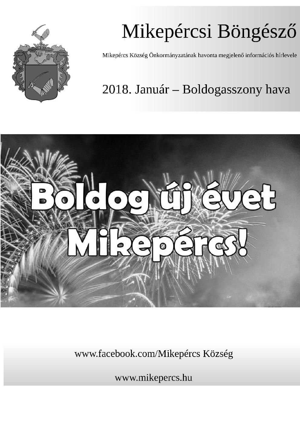 Mikepércsi Böngésző 2018. Január